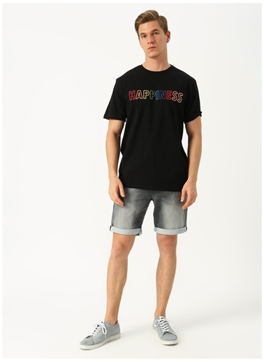 Only & Sons Only & Sons Happiness Siyah T-Shirt Siyah